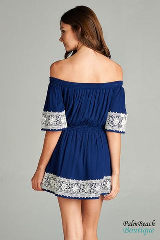 Laced Border Dress - Dresses