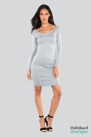 Long Sleeve Classic Dress - Dresses