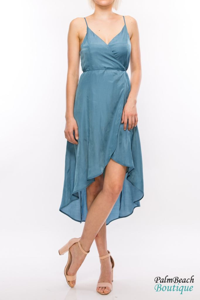 Low Wrap Dress - Dresses