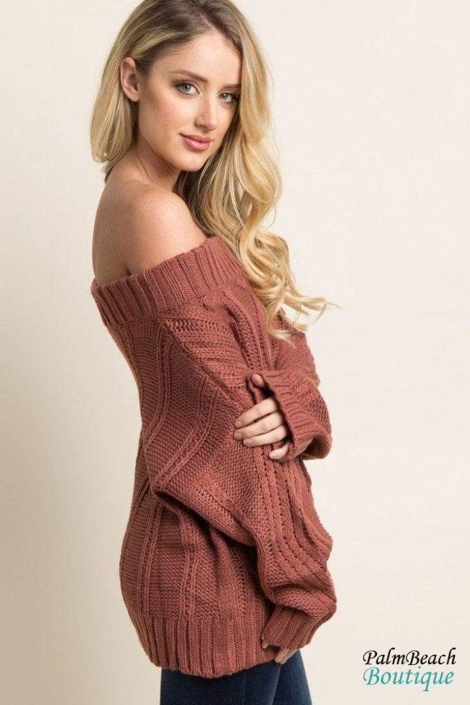 Off The Shoulder Sweater - Sweater
