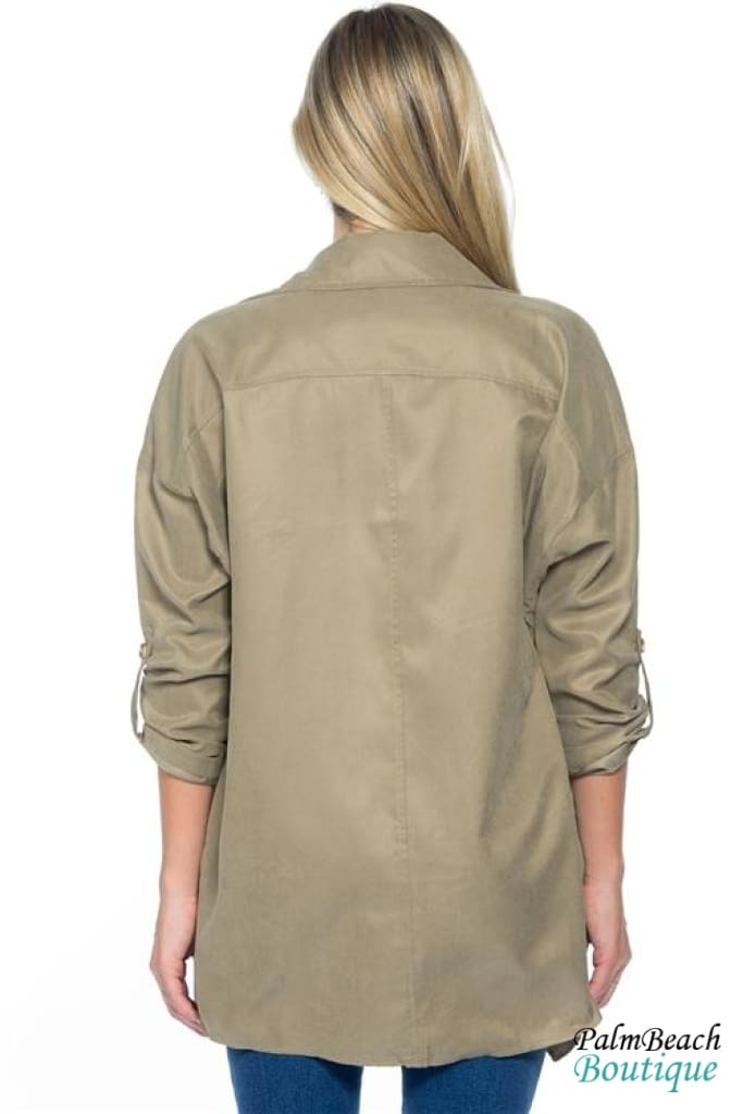 Oversized Double Breasted Button Down Blazer - Womens Coats & Jackets