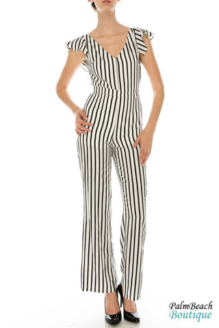 Ruffle Jumpsuit - Womens Jumpsuits