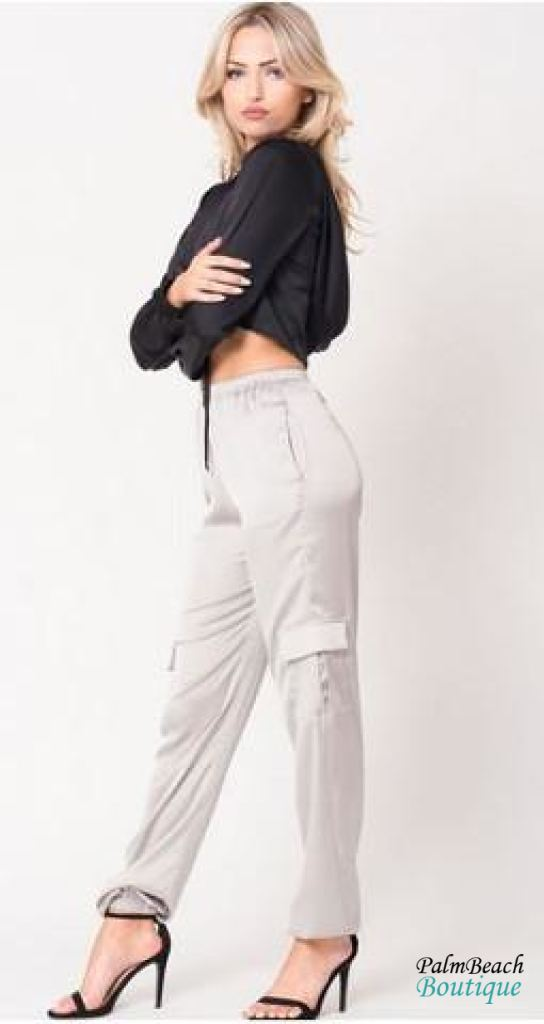 Satin Cargo Pants - Womens Pants