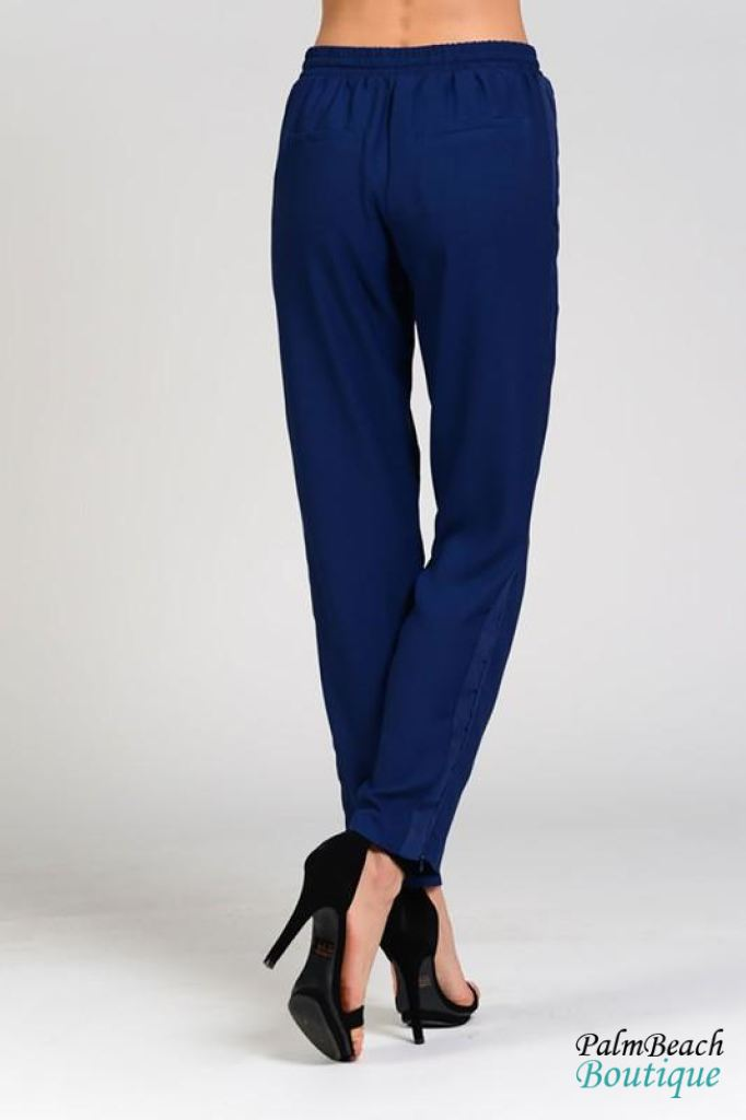 Side Contrast Detail Track Pants - Womens Pants