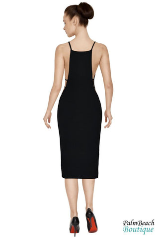 Side Cut Midi-Dress - Womens Dresses