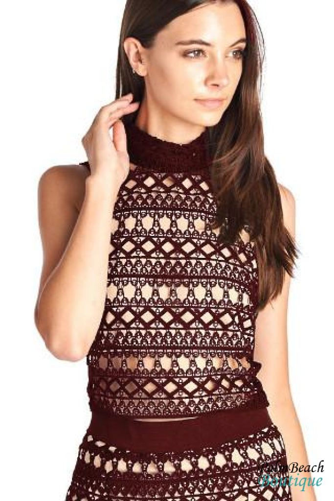 Sleeveless Guipure Lace Top - Womens Tops