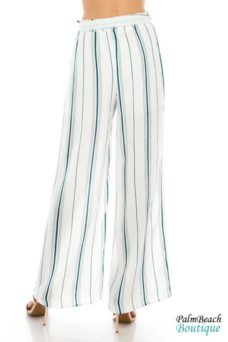 Striped Palazzo Pants - Womens Pants