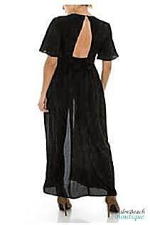 Structured Kimono Maxi Romper With Bell Sleeves - 2-Pc Sets