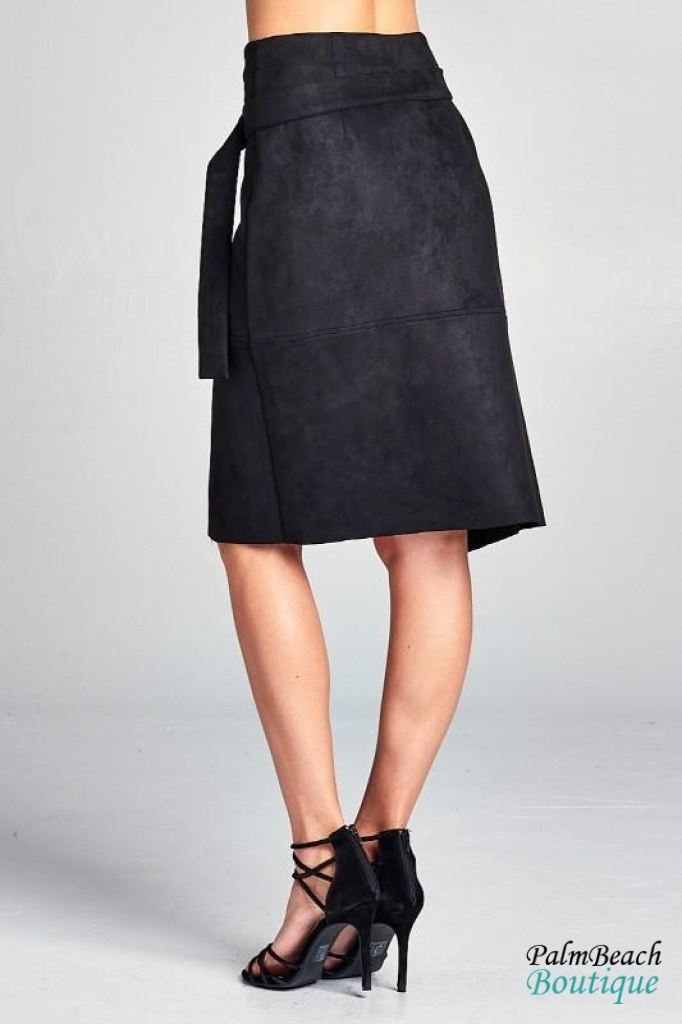 Suede Crossover Skirt - General