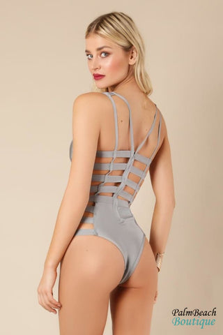 Thick Banded Cut-Out Bandage Swimsuit - Swimwear