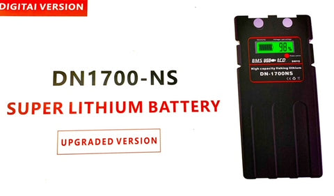 Super Lithium Battery DN1700-NS  with shoulder case,strap, charger