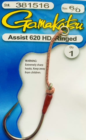 Gamakatsu 620 HD Assist Hook Ringed 6/0, Single