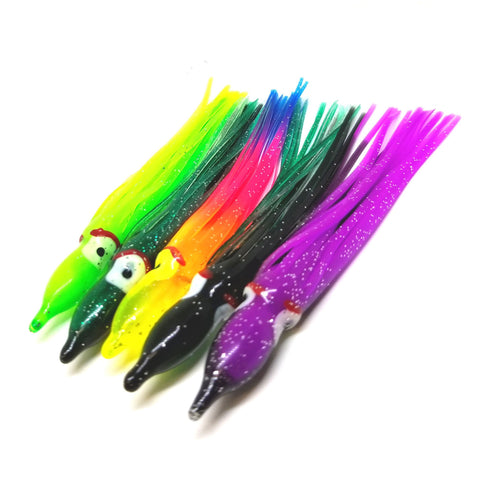 Multi Colored Trolling Skirts (5-pack)