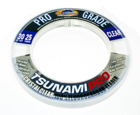 Tsunami Pro Crystal Clear Fluorocarbon Leader 30lb and 40lb