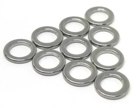 10-Pack Stainless Steel Solid Rings