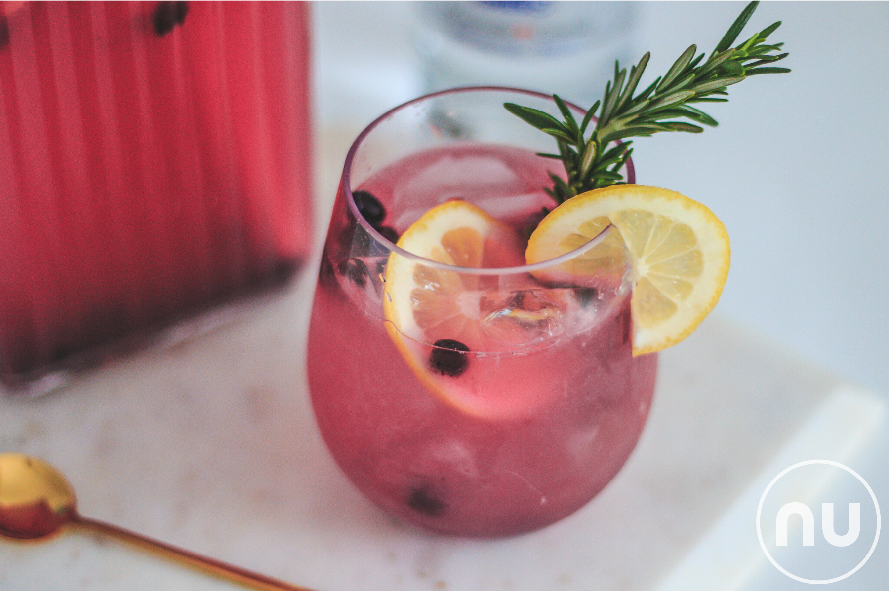 Blueberry & Rosemary Spritz