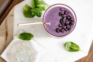 Heart Smart Blueberry Spinach Smoothie