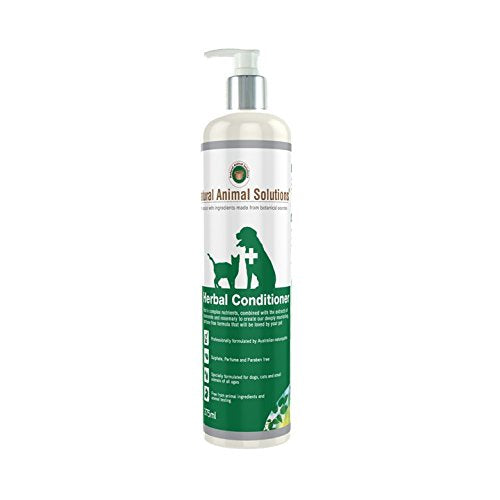 Natural Animal Solutions Herbal Conditioner for Cats & Dogs 375ml, WooforWuff