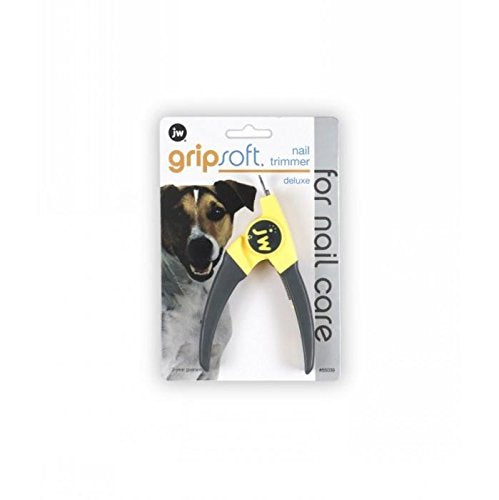 Deluxe Nail Trimmer for Dogs & Cats - Regular - JW Gripsoft Pet Grooming Tool, WooforWuff