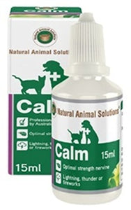 "Natural Animal Solutions ""Calm"" Remedy for Cats & Dogs 15ml, WooforWuff"