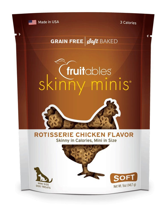 Fruitables Dog Treats Skinny Minis Rotisserie Chicken Flavour - 141.7g, WooforWuff