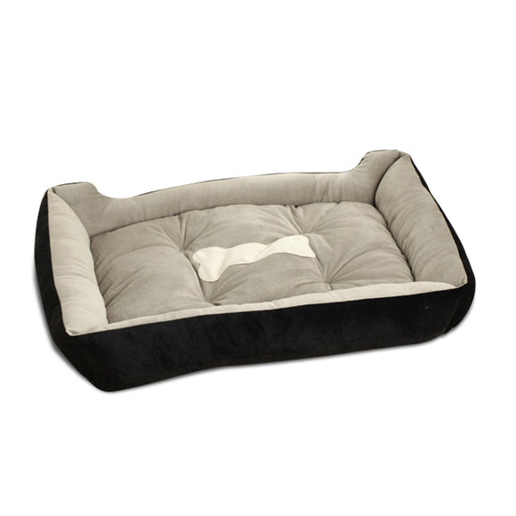 PETCUTE Luxury Cat and Dog Bed with Faux Sheepskin Lining, Fully Washable, 6Sizes, Cat Bed, Pet Beds Black, WooforWuff