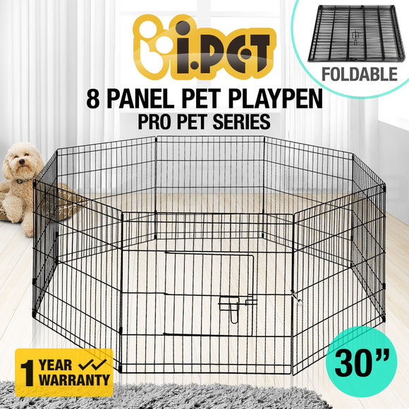 Audza 8 Panel Pet Playpen Dog Cage Puppy Exercise Crate Enclosure Rabbit Fence, WooforWuff
