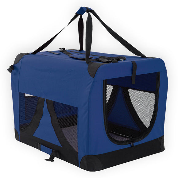 Portable Soft Dog Crate XXXL - BLUE, WooforWuff