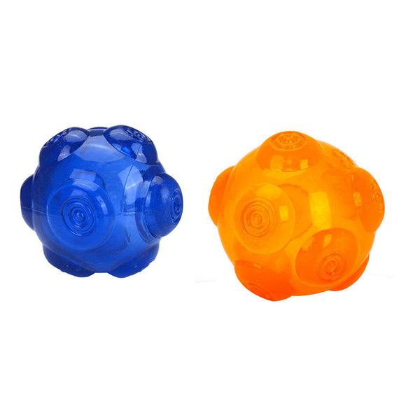 2Pcs Dog Silicone Molar Balls Squeaky Dog Bite Toy for Large Small Dogs Pets Training Toys, WooforWuff