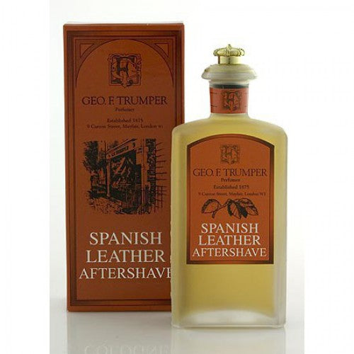 Лосьон после бритья Испанская кожа (Spanish leather aftershave in a glass bottle)