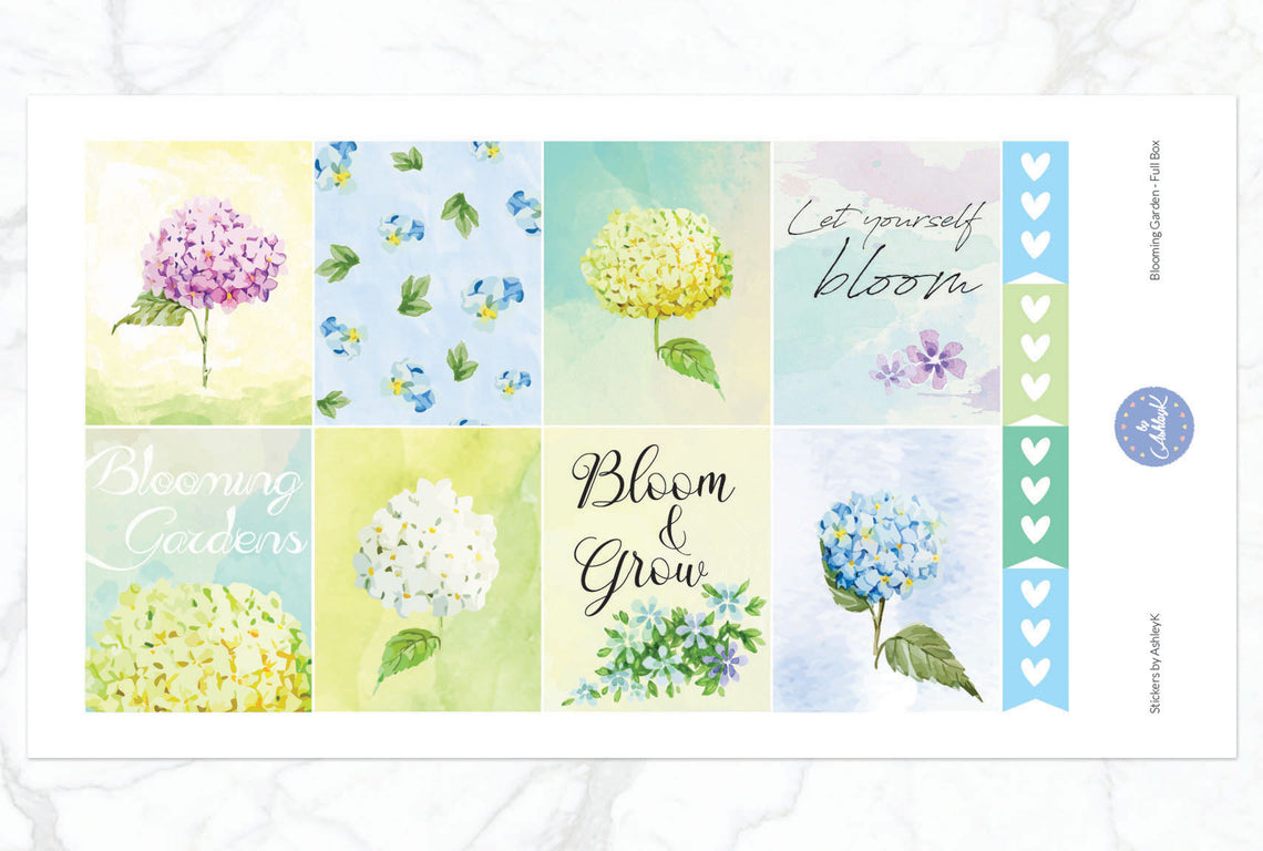 Blooming Garden Weekly Kit Stickers By Ashleyk