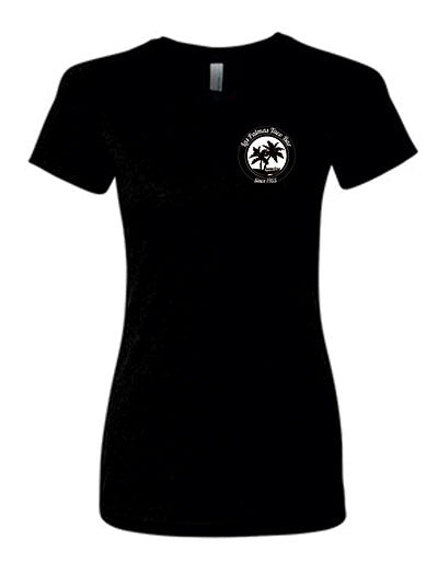 Young Womens Black Short Sleeve T-Shirt