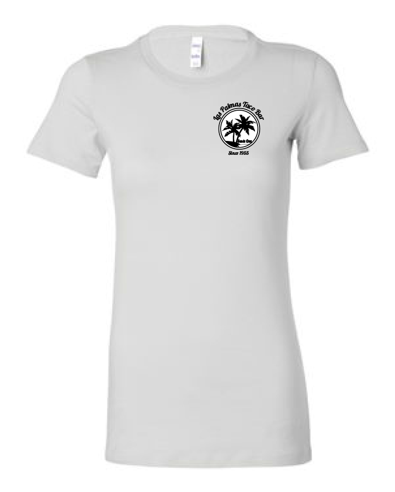 Young Womens White Short Sleeve T-Shirt