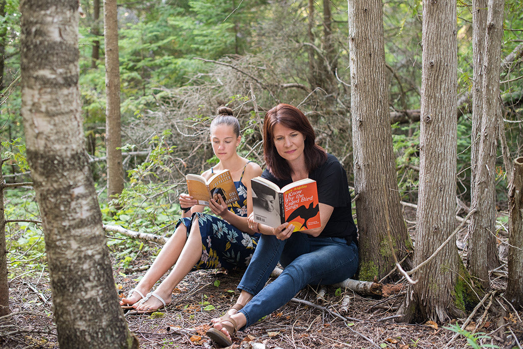 my-weekend-is-booked-mother-daughter-teenage-entrepreneurs-founders-reading-in-forest