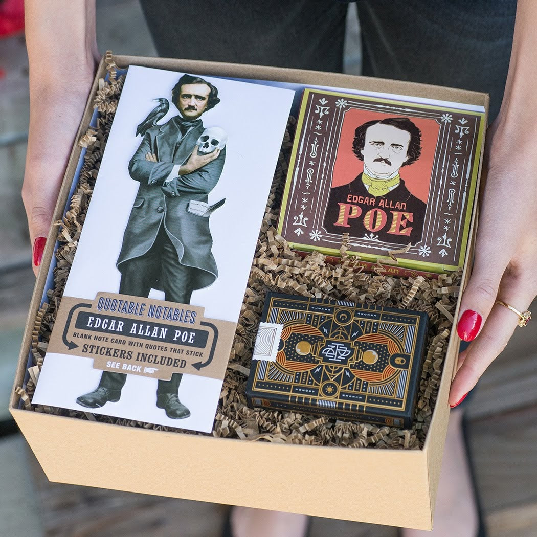 Edgar Allan Poe Gift Box Unique Gifts For Book Lovers My Weekend is Booked