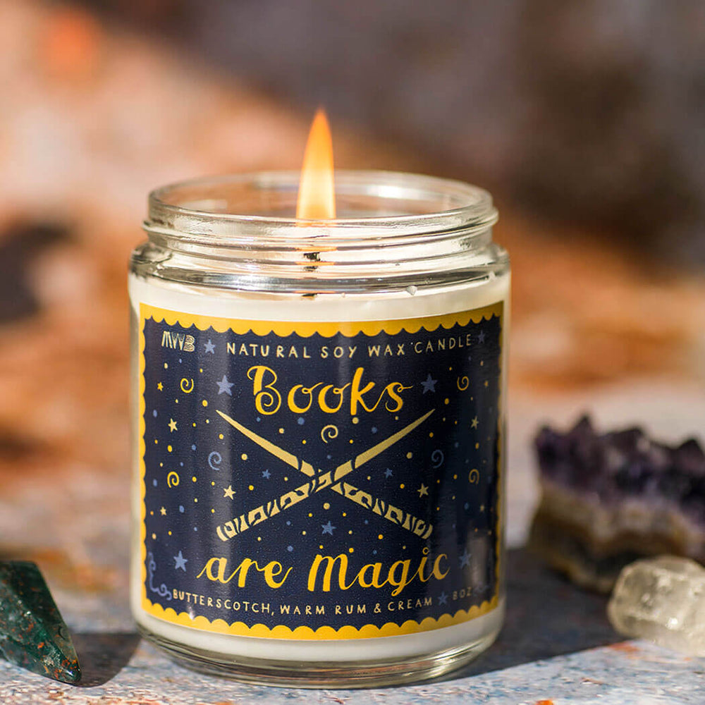 Books Are Magic Soy Candle