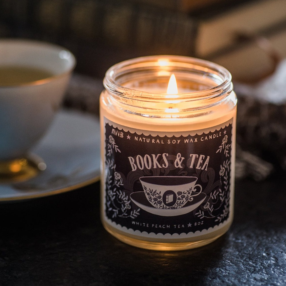 Books and Tea Soy Candle