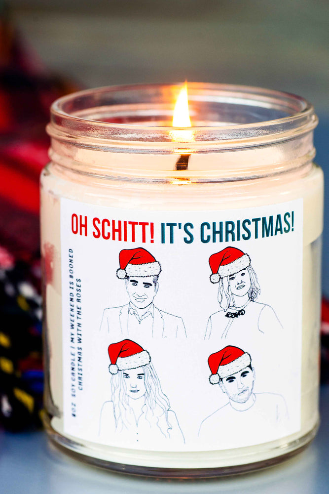 Oh Schitt It's Christmas Candle