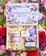Custom Personalized Congrats Gift Box With Scrunchie