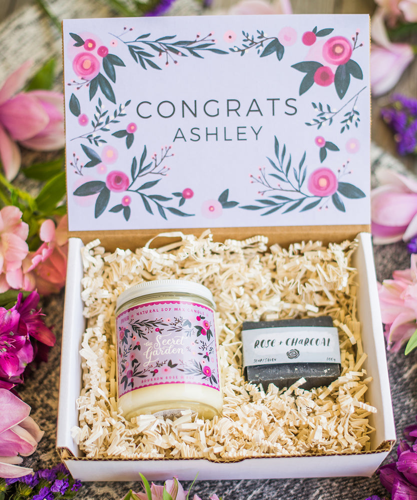 Custom Personalized Congrats Gift Box