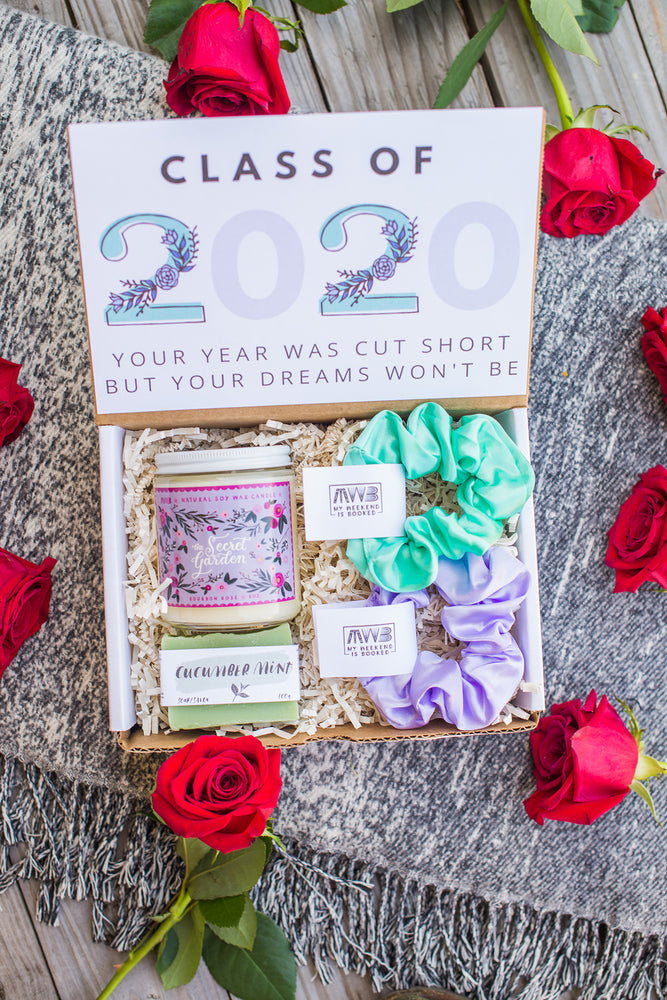 Custom Graduation Gift Box With Satin Scrunchies