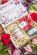 "Custom Personalized ""Miss You"" Gift Box With Satin Scrunchie"