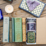 Harry Potter Inspired Soy Candle Gift Box for Book Lovers with Theory11 Cards