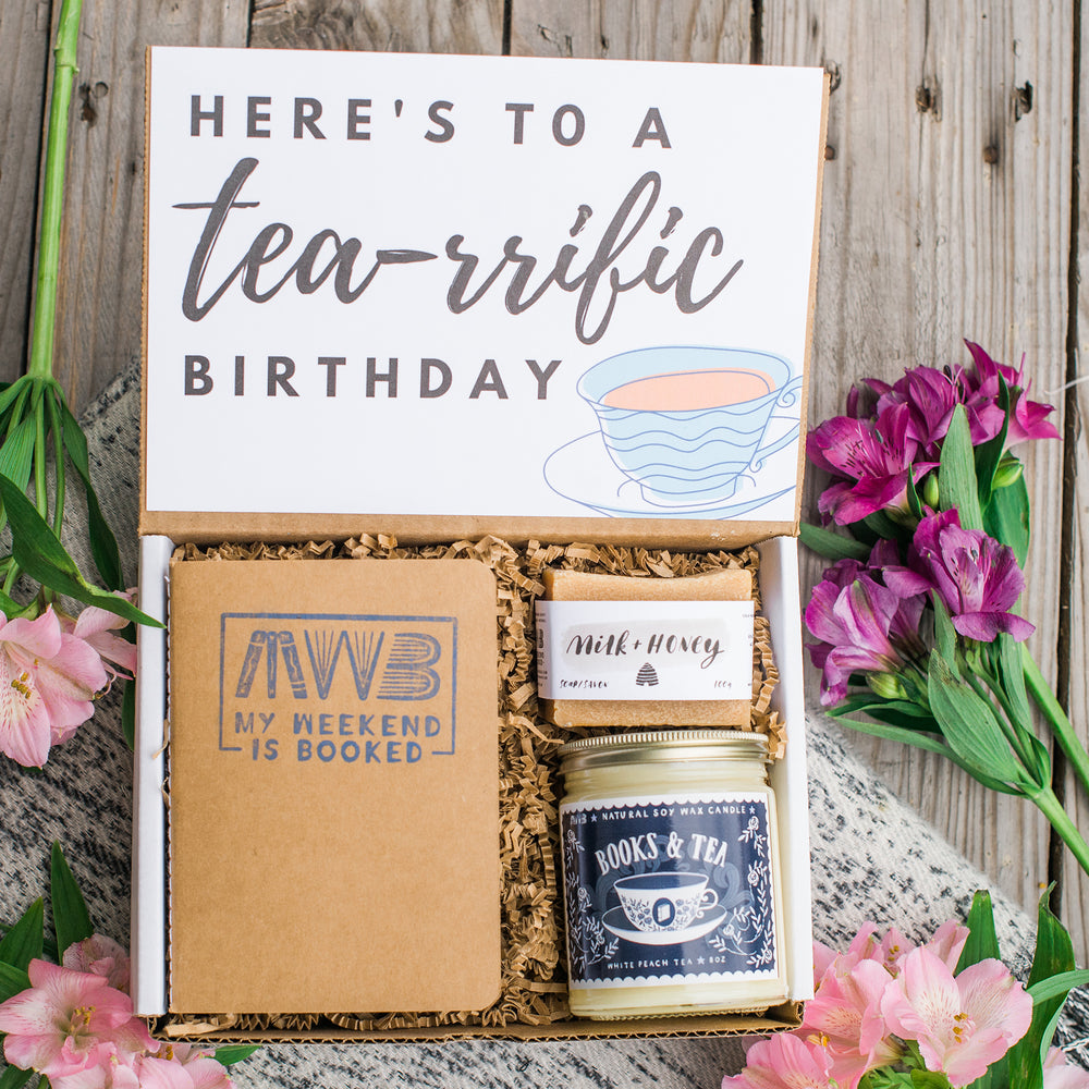 Books and Tea Birthday Gift Box