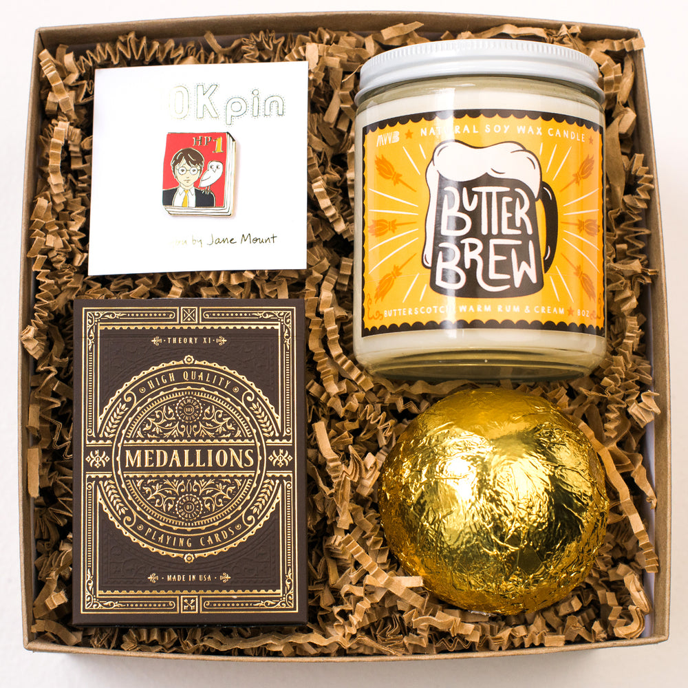 Harry-potter-gift-box-luxury-gift-unique-holiday-gift-unique-christmas-gift-book-lover-gift-butter-beer-golden-snitch