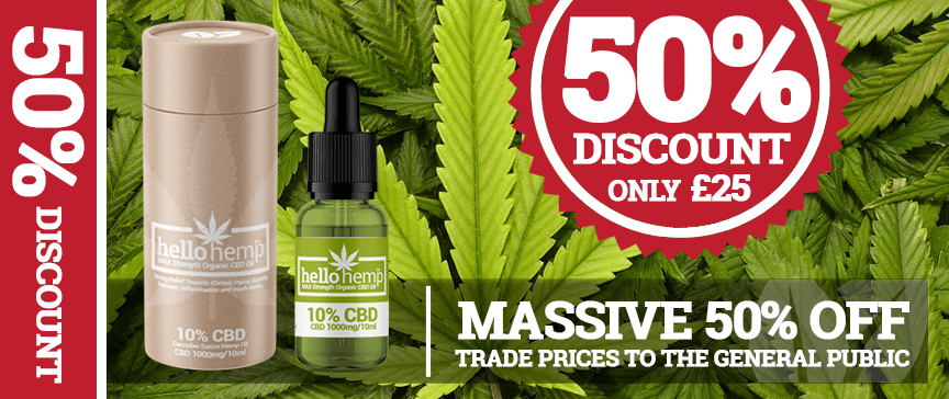 Hello Hemp CBD Oil 10% 1000mg 50% Discount