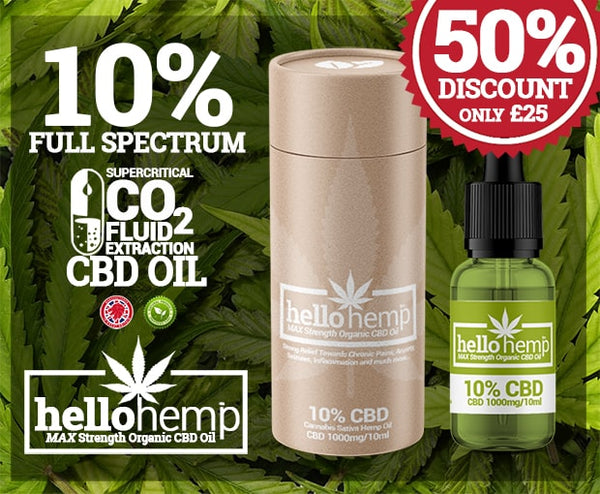 BUY 10% 1000mg Hello Hemp CBD Oil