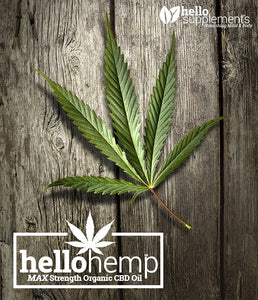 Hello Hemp CBD Oil Main Page Leaf