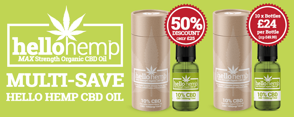Hello Hemp CBD Oil Multi-Save 10% 1000mg