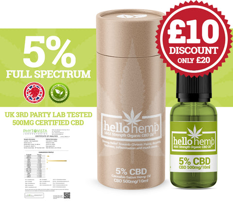 Hello Hemp CBD Oil - 5% 500mg